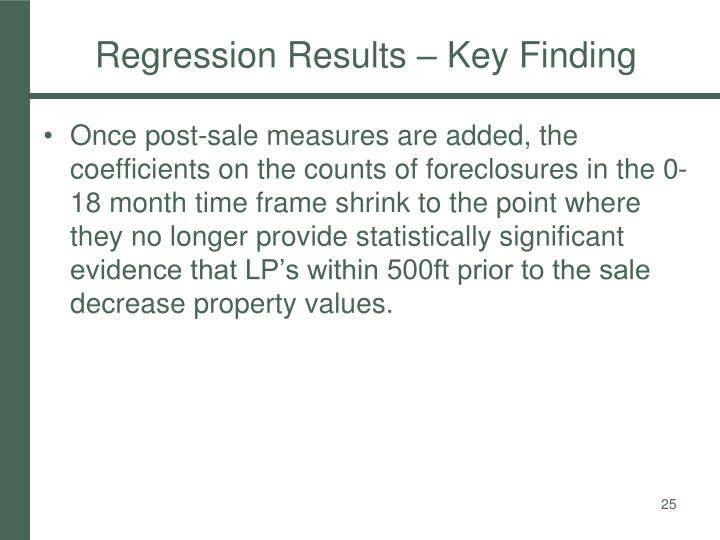 Regression Results – Key Finding