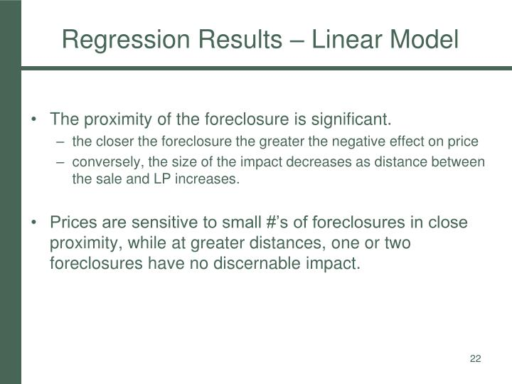 Regression Results – Linear Model