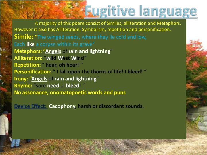 Fugitive language
