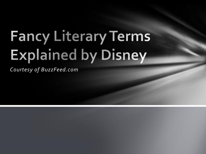 Fancy literary terms explained by disney