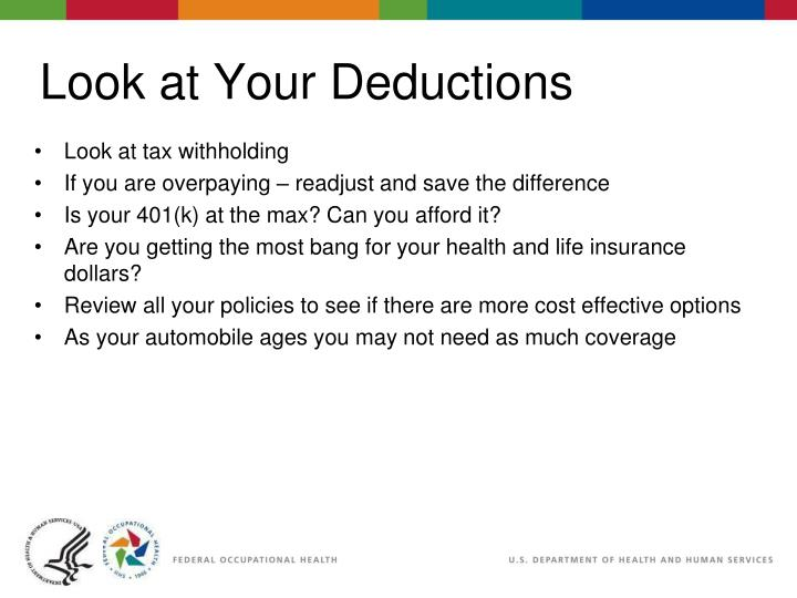 Look at tax withholding