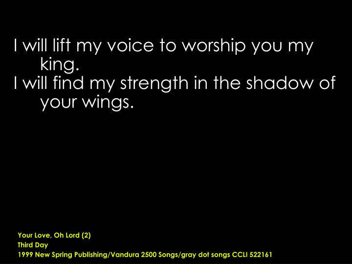 Your Love, Oh Lord (2)