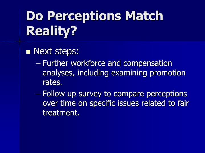 Do Perceptions Match Reality?