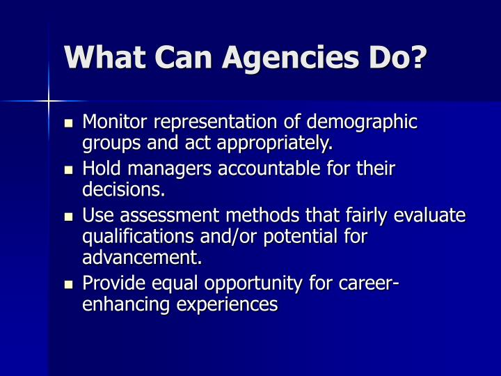 What Can Agencies Do?