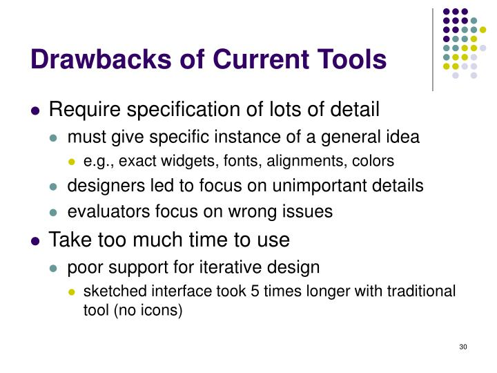 Drawbacks of Current Tools