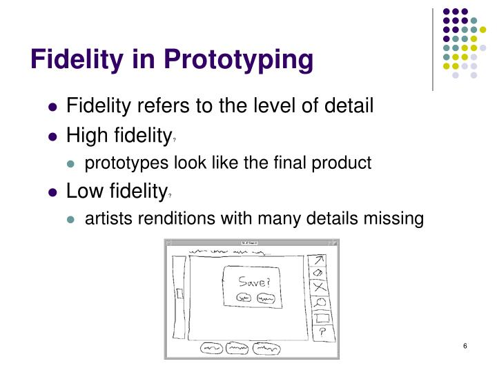 Fidelity in Prototyping