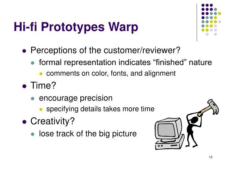 Hi-fi Prototypes Warp