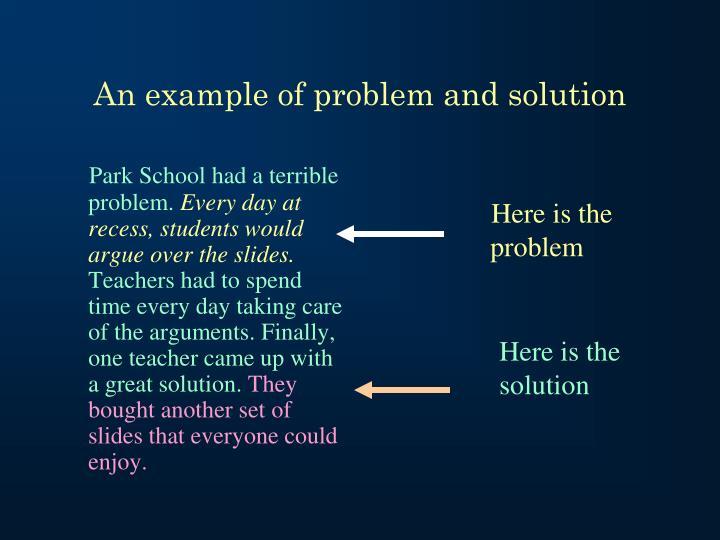 Park School had a terrible problem.
