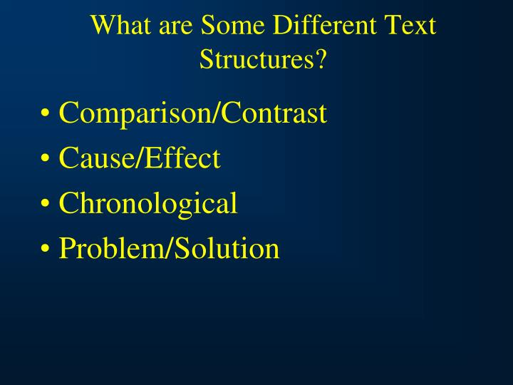 What are Some Different Text Structures?