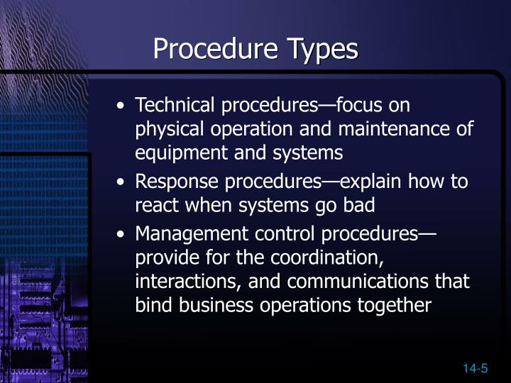 Procedure Types