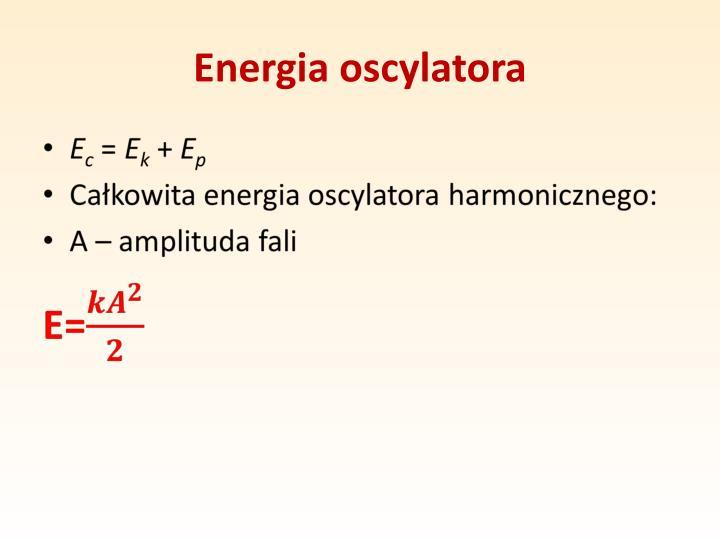 Energia oscylatora