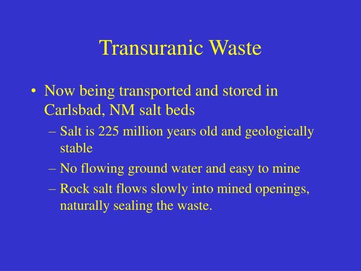 Transuranic Waste