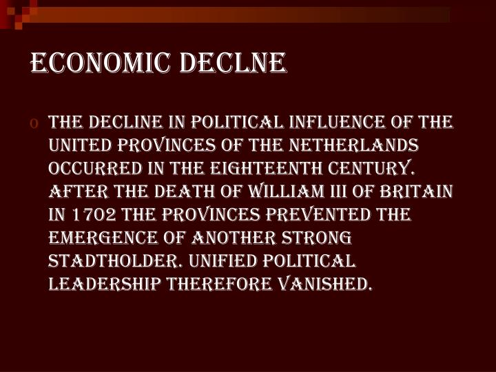 Economic declne