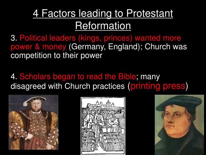 factors leading to protestant reformation essay