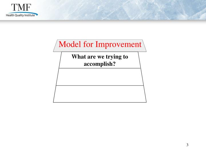 Model for Improvement