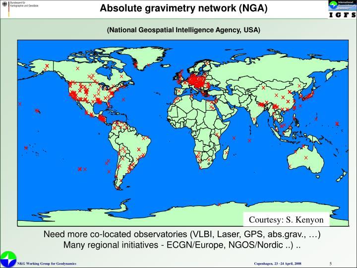 Absolute gravimetry network (NGA)