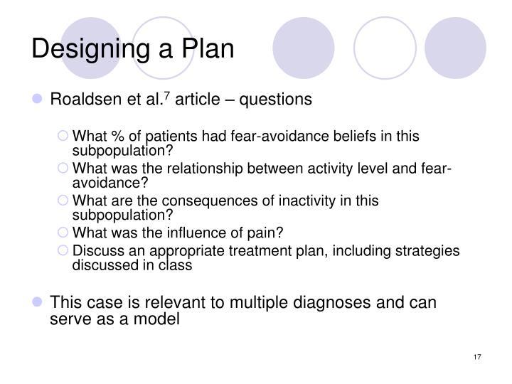 Designing a Plan