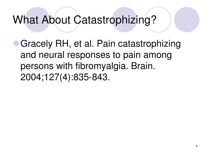 What About Catastrophizing?