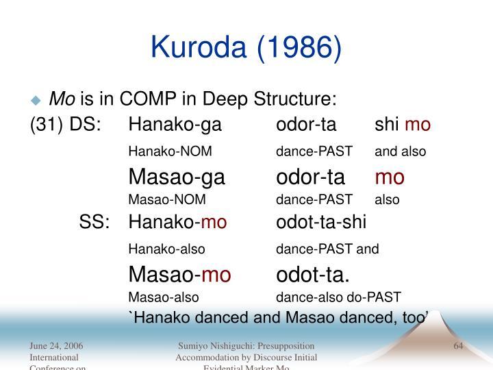 Kuroda (1986)