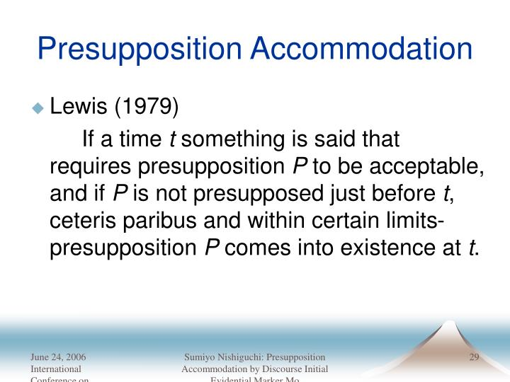 Presupposition Accommodation