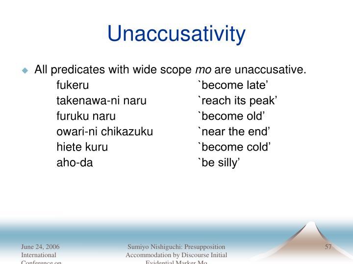 Unaccusativity