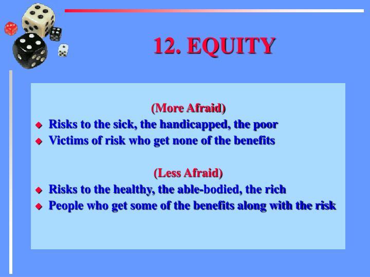 12. EQUITY