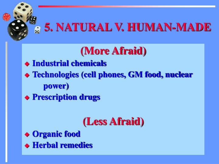 5. NATURAL V. HUMAN-MADE
