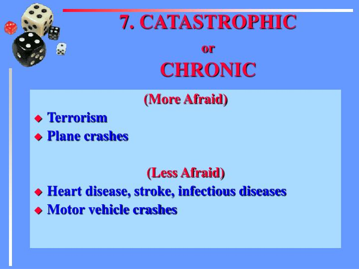 7. CATASTROPHIC