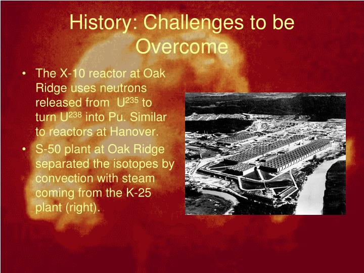History: Challenges to be Overcome