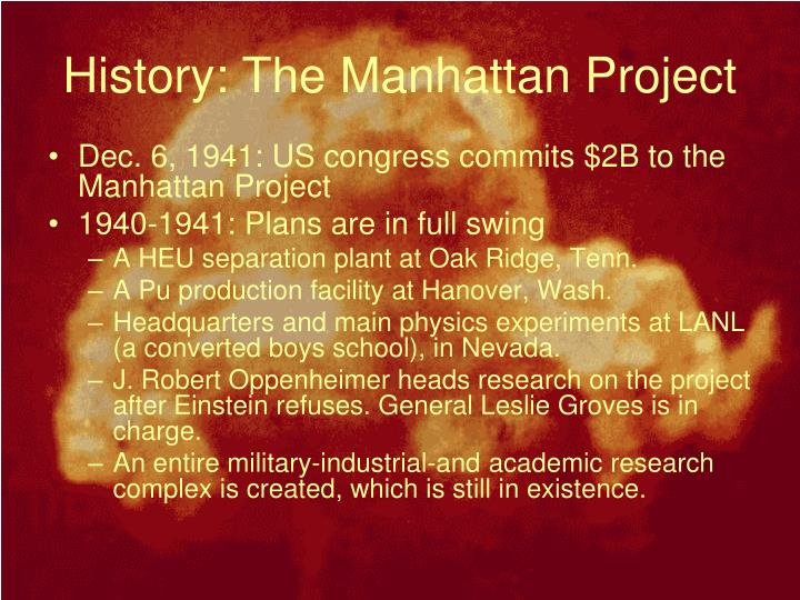 History: The Manhattan Project