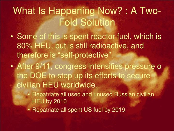 What Is Happening Now? : A Two-Fold Solution