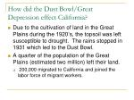 how did the dust bowl great depression effect california