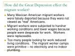 how did the great depression effect the migrant worker