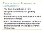 what were some of the causes of the great depression