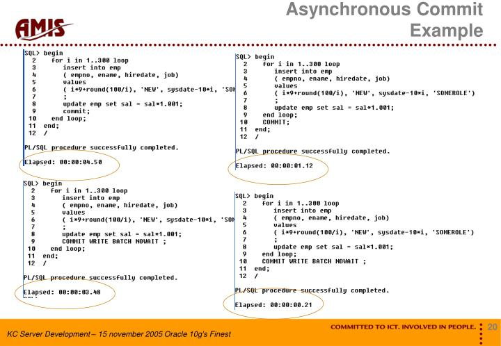 Asynchronous Commit