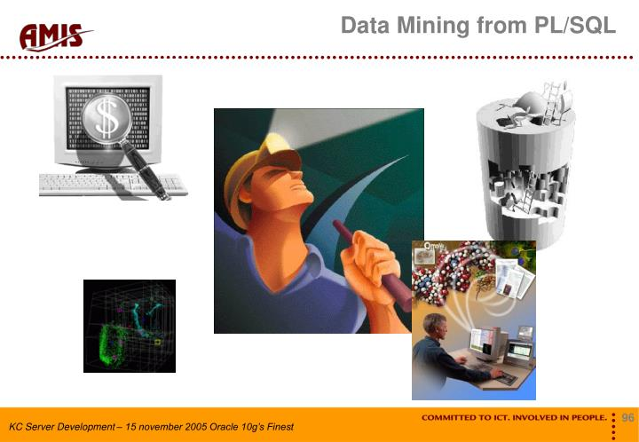 Data Mining from PL/SQL