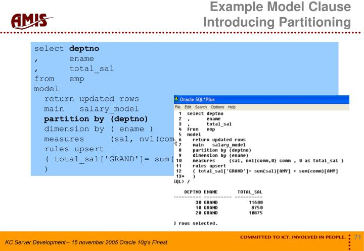 Example Model Clause