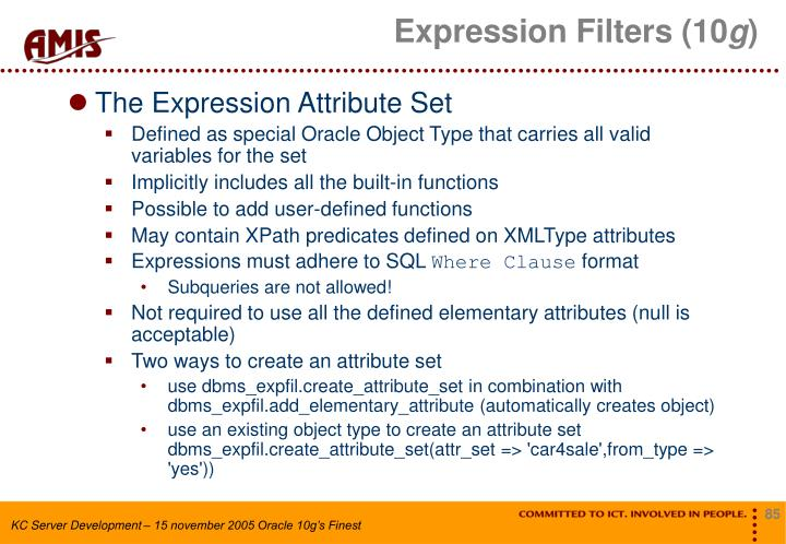Expression Filters (10