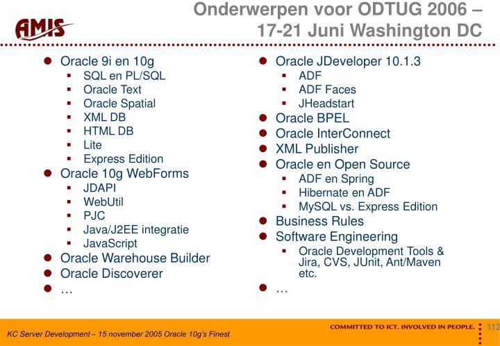 Oracle 9i en 10g