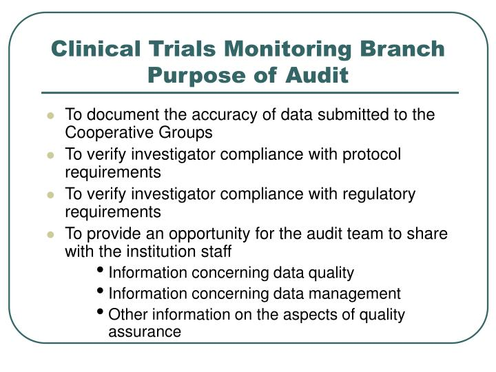 Clinical Trials Monitoring Branch