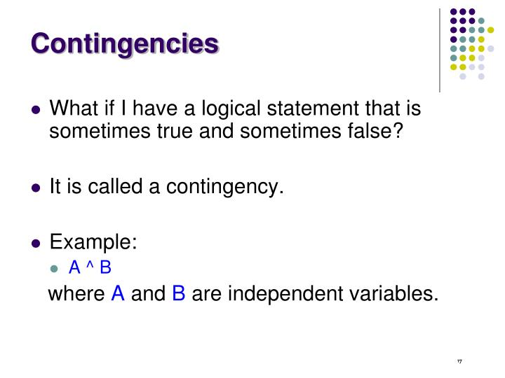 Contingencies