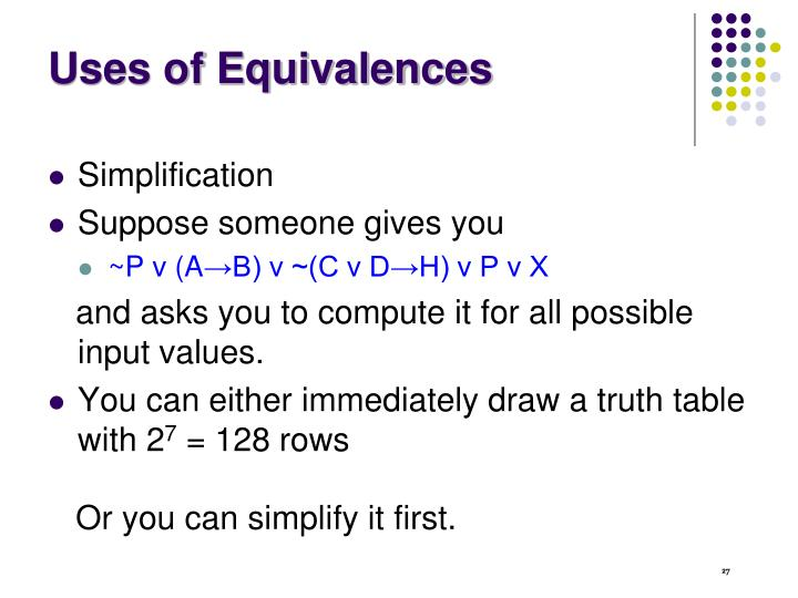 Uses of Equivalences