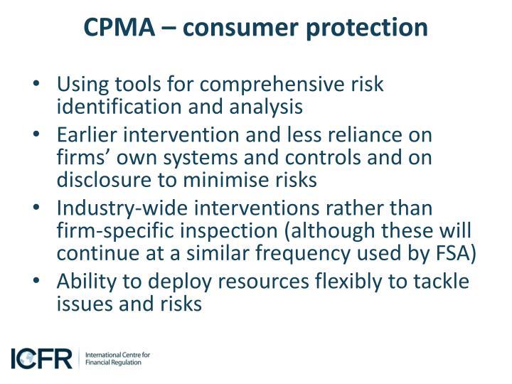 CPMA – consumer protection