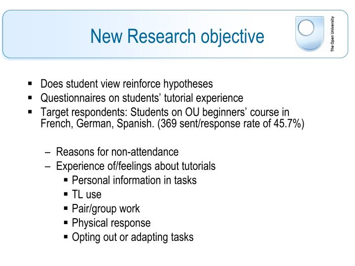 Does student view reinforce hypotheses