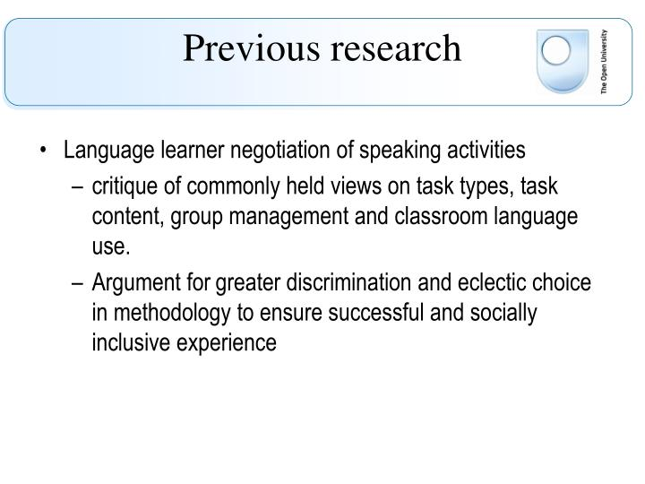 Language learner negotiation of speaking activities