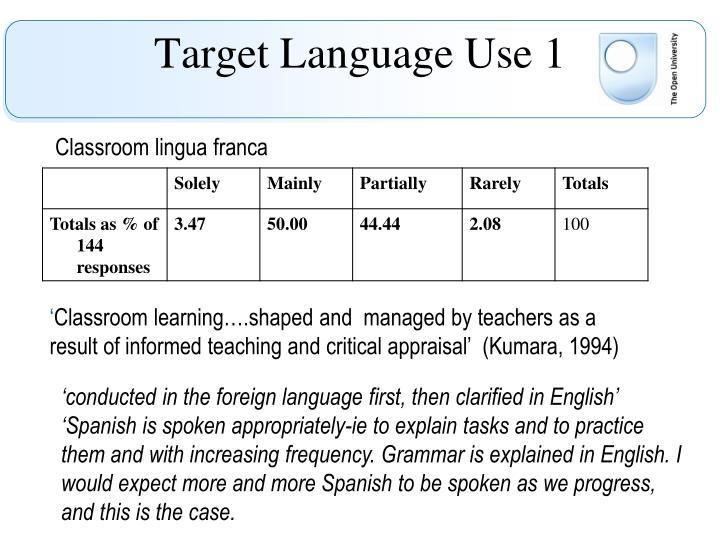Target Language Use 1