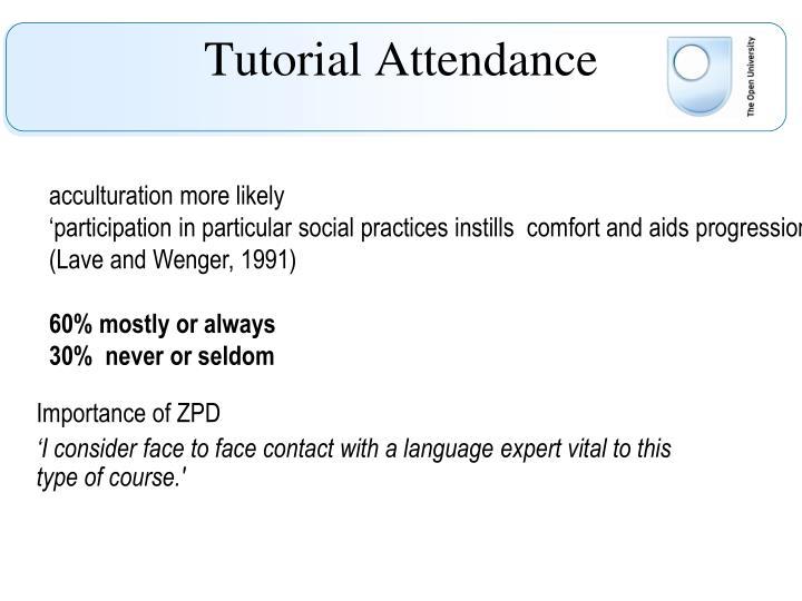 Tutorial Attendance