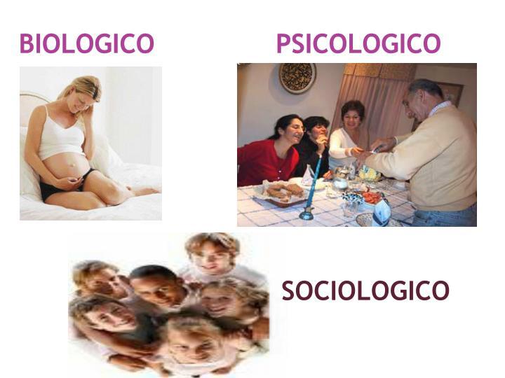 BIOLOGICO               PSICOLOGICO