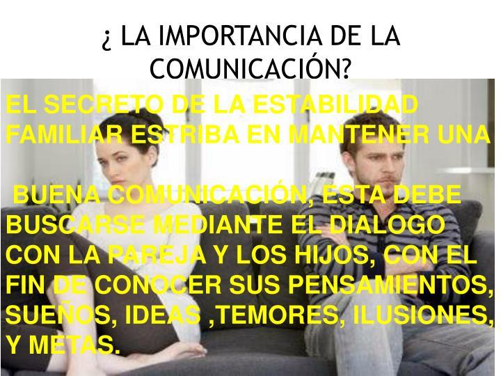 ¿ LA IMPORTANCIA DE LA COMUNICACIÓN?