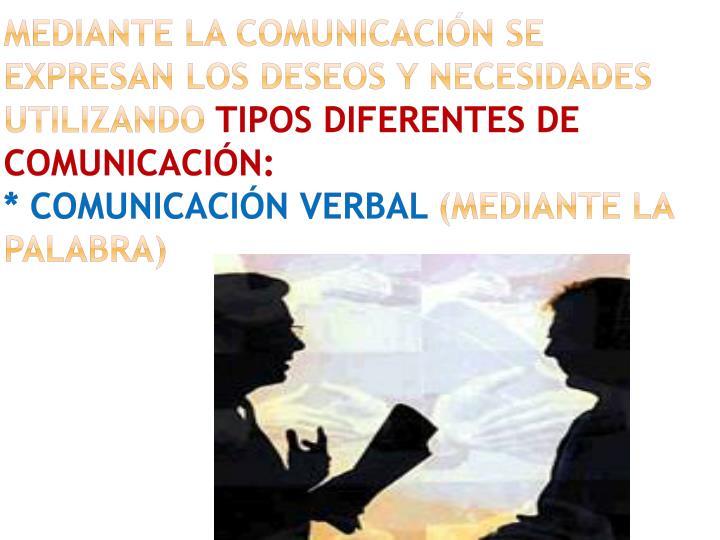 MEDIANTE LA COMUNICACIÓN SE EXPRESAN LOS DESEOS Y NECESIDADES UTILIZANDO